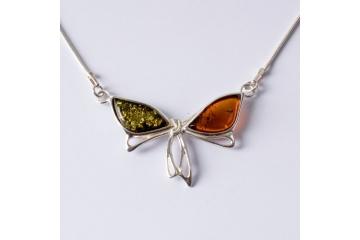 Strieborný náhrdelník mašlička