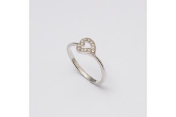 Stříbrný prsten Srdíčko